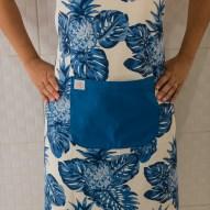 Avental de Cozinha Abacaxi Azul