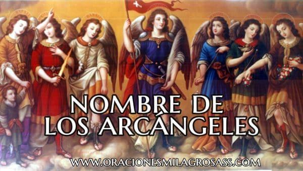 Nombre de los 7 Arcángeles de Dios