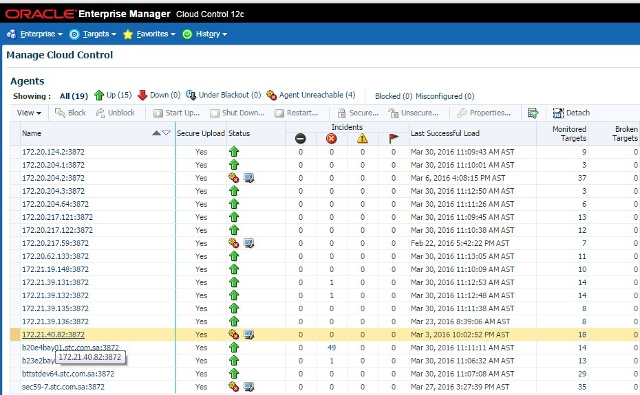 Deinstall Management Agents - ORACLE-HELP