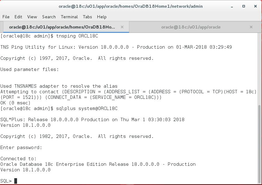 Background Processes and Listener in Oracle 18c - ORACLE-HELP