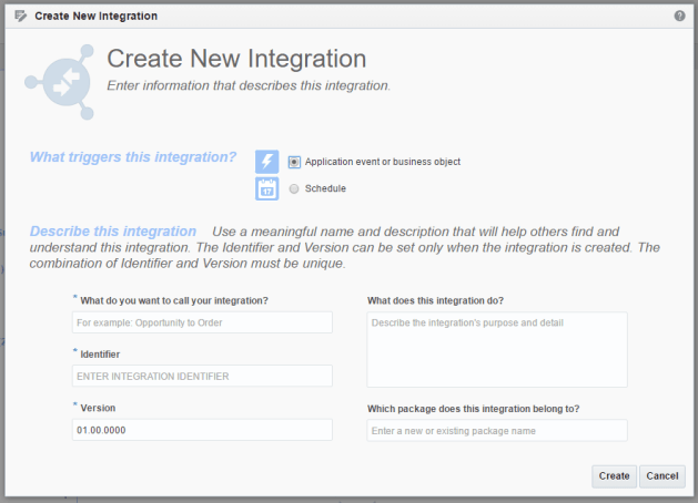create new orchestration wizard