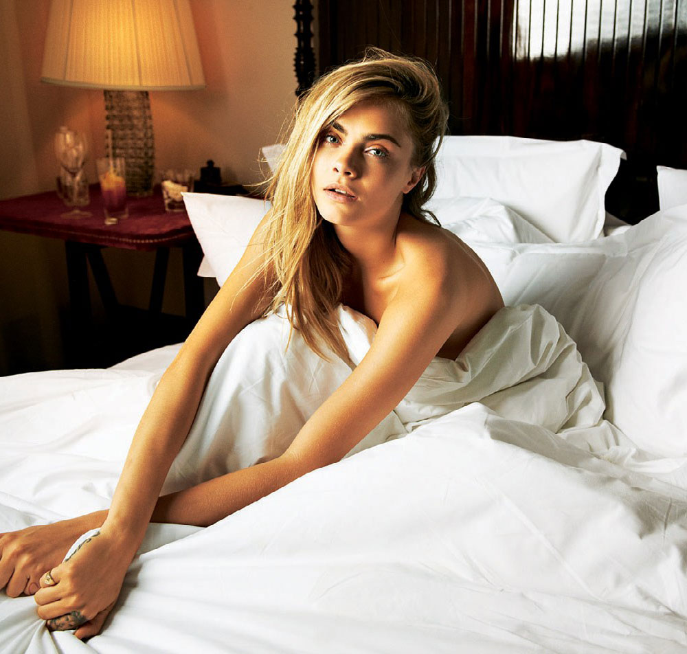 Cara , Delevingne, Telegraph, magazine, in, bed , naked, sonia , sieff, fashion, editorial, oracle, fox