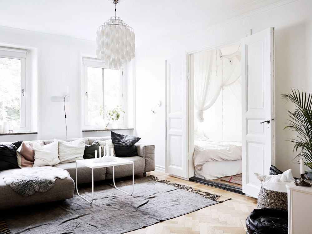 tiny, spaces, sunday, sanctuary, small, interiors, white, scandinavian, house, oracle, fox