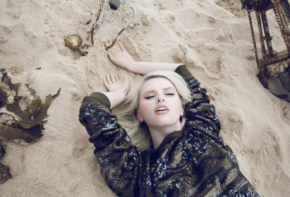 Elodie, Russell. Fashion, Editorial, Beach, Chandeliers, Oracle, Fox