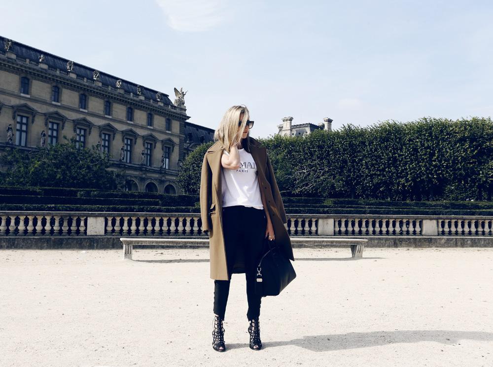 Balmain, T shirt, tee, shirt, logo, isabel marant, leather pants, givenchy bag, antigona, willow shoes, celine  sunglasses, boyfriend coat, camel coat, oracle fox, outfit