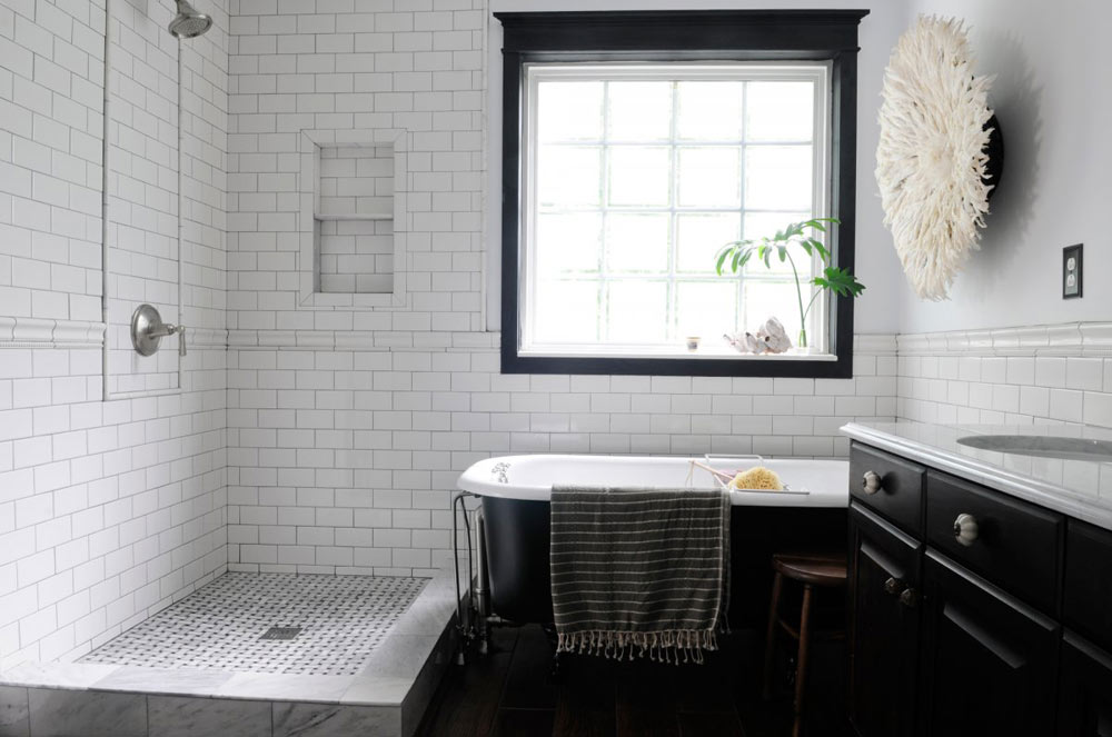 Oracle, Fox, Sunday, Sanctuary, White, Out, White, Interiors, industrial, bathroom, free, standing, bath