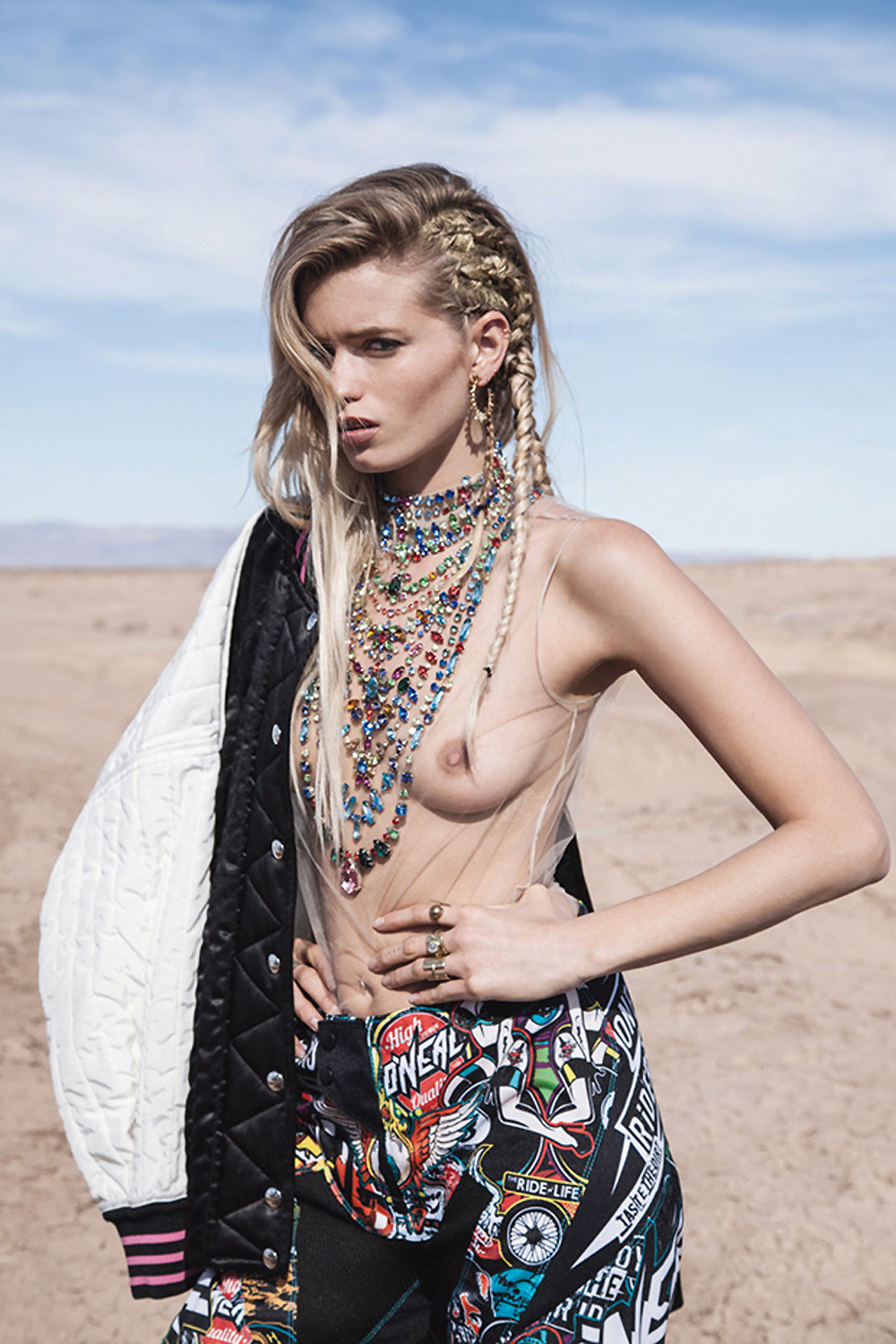 abbey lee kershaw, mad max, russh magazine, editorials, motorbike,