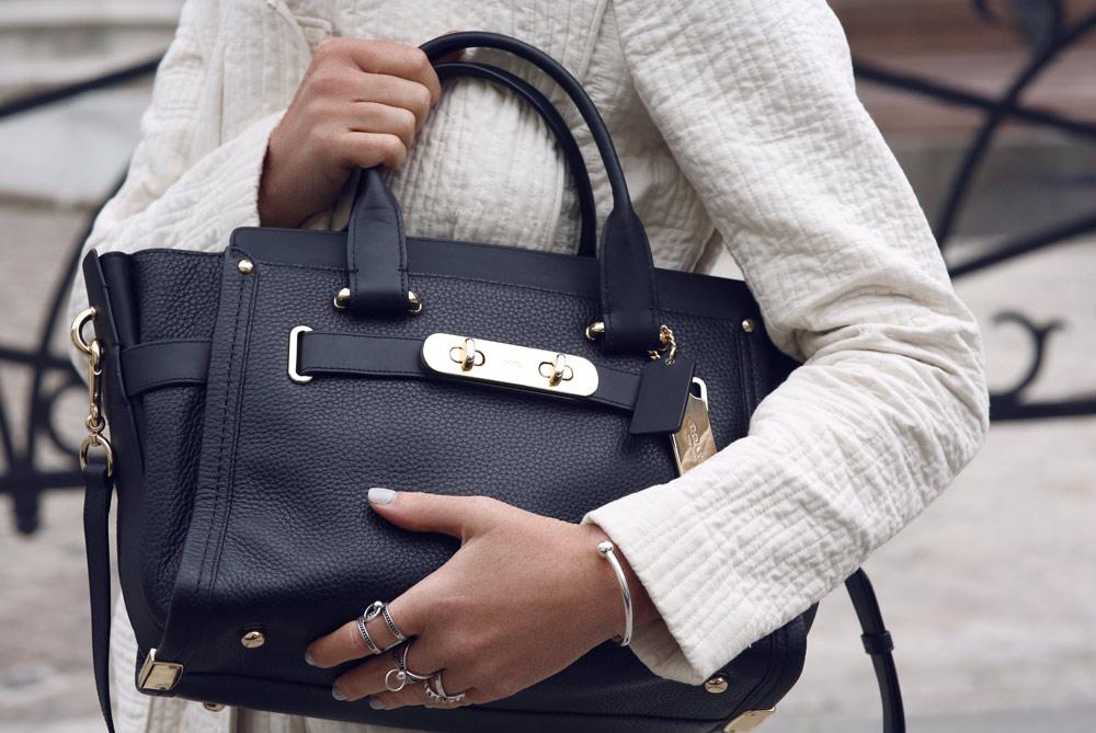 Coach, Swagger, Bag, Handbag, Black, Tote, Shopper, Outfit, Paris, Oracle Fox