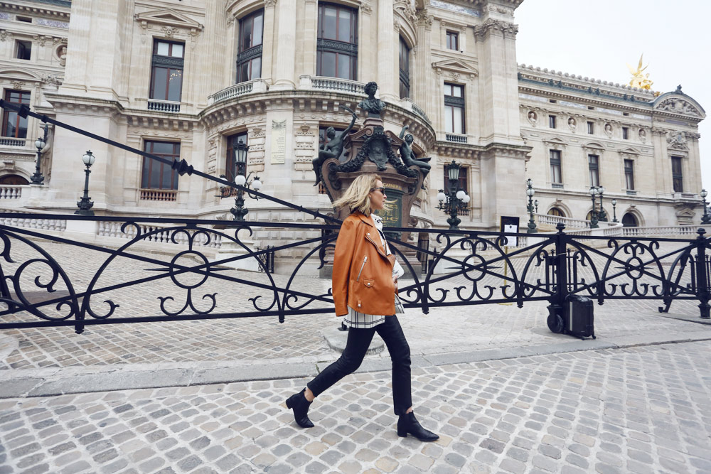 Acne Leather Jacket, Acne Jacket, Isabel Marant Leather Pants, acne shirt, acne boots, alexander wang bag, Balenciaga scarf, celine sunglasses, outfit, oracle fox