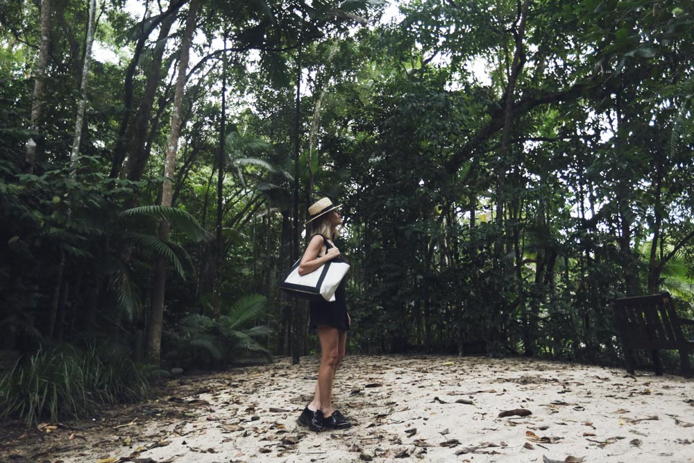 Daintree, Rainforest, Balenciaga, Bag, Travel, Oracle, Fox, Tropical, North, Queensland, Black, Outfit