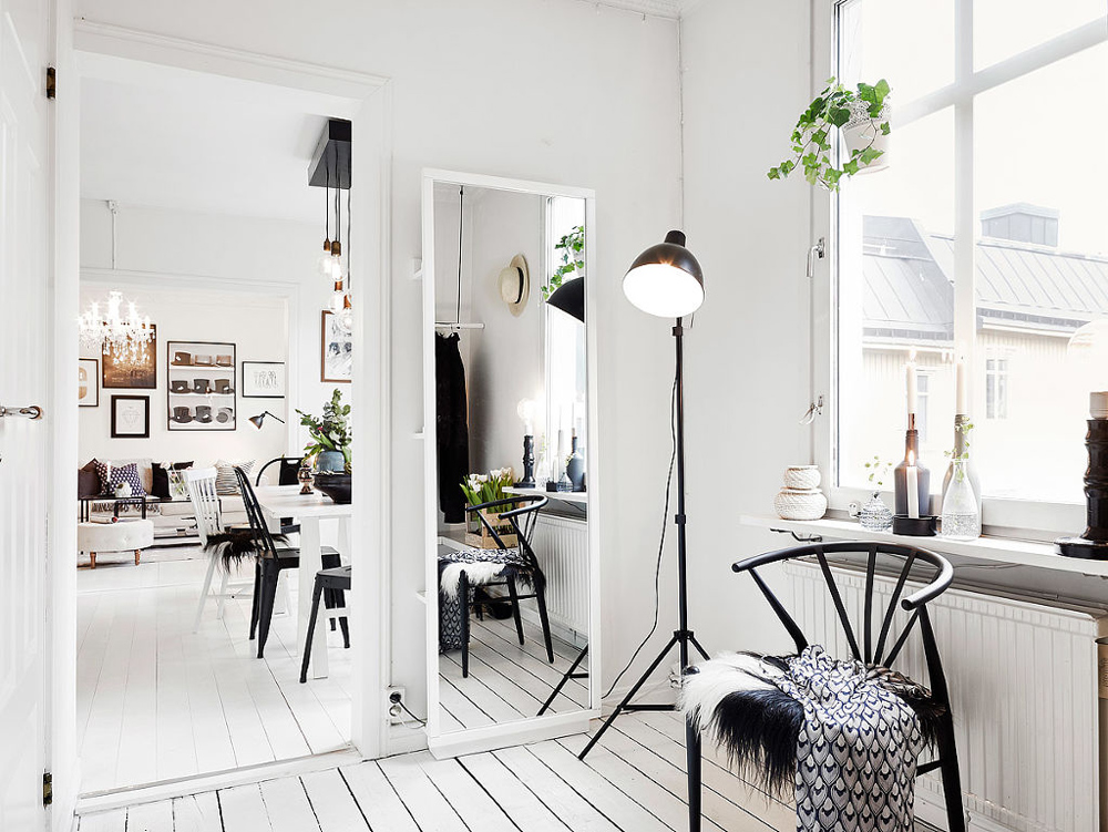 Oracle, Fox, Sunday, Sanctuary, At, Ease, Monochrome, Scandinavian, Interior, Living, Room, Mirror