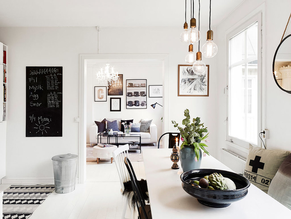 Oracle, Fox, Sunday, Sanctuary, At, Ease, Monochrome, Scandinavian, Interior, Living Room, Brass, Lights, Plants
