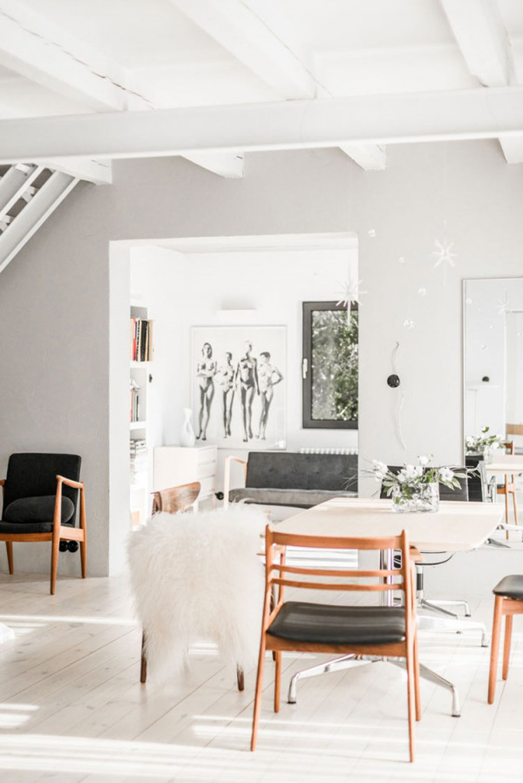 Oracle, Fox, Sunday, Sanctuary, Polish, Farmhouse, White, Minimalist, Interior, Indoor, Plants, Scandinavian, Style, Dining, Room, Danish, Furniture