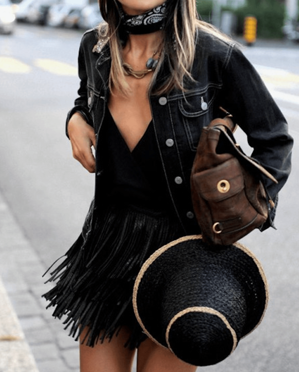 the,bandana,trend,street, style,blue,shirt,oracle,fox,all, black, outfit