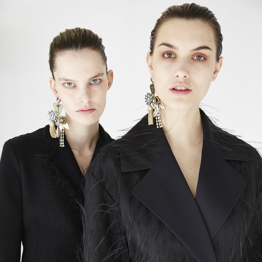 oracle fox, trend, post, gold,  statement, earring, editorial, campaign, celine