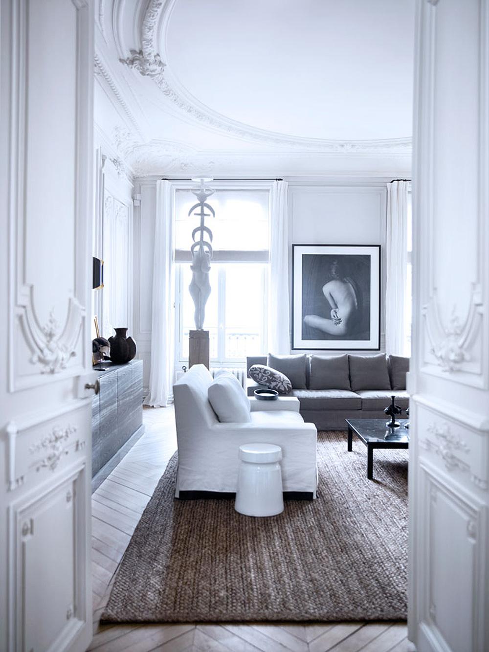 Oracle, Fox, Sunday, Sanctuary, Paris, Apartment, Tour, Art, Interior, Gallery, living, room, gilded, mirror