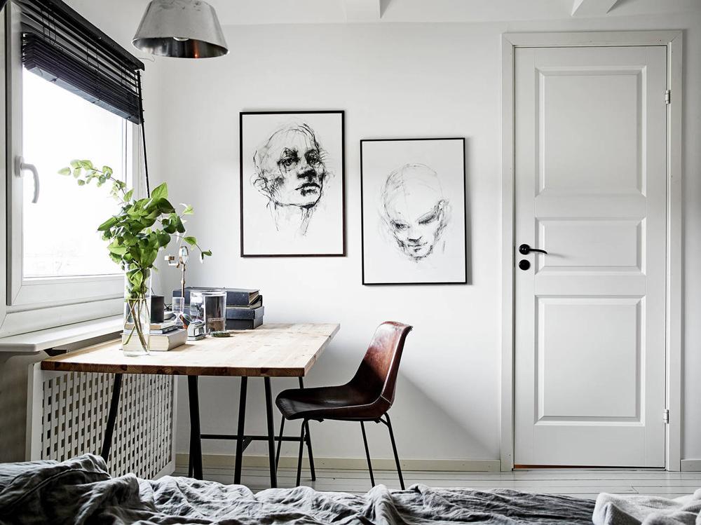 Oracle Fox, Sunday Sanctuary, Elsewhere, Small Apartment, living, Alternative Scandinvian, Interior, Artwork, Desk, Minimal, Designer, Office Space