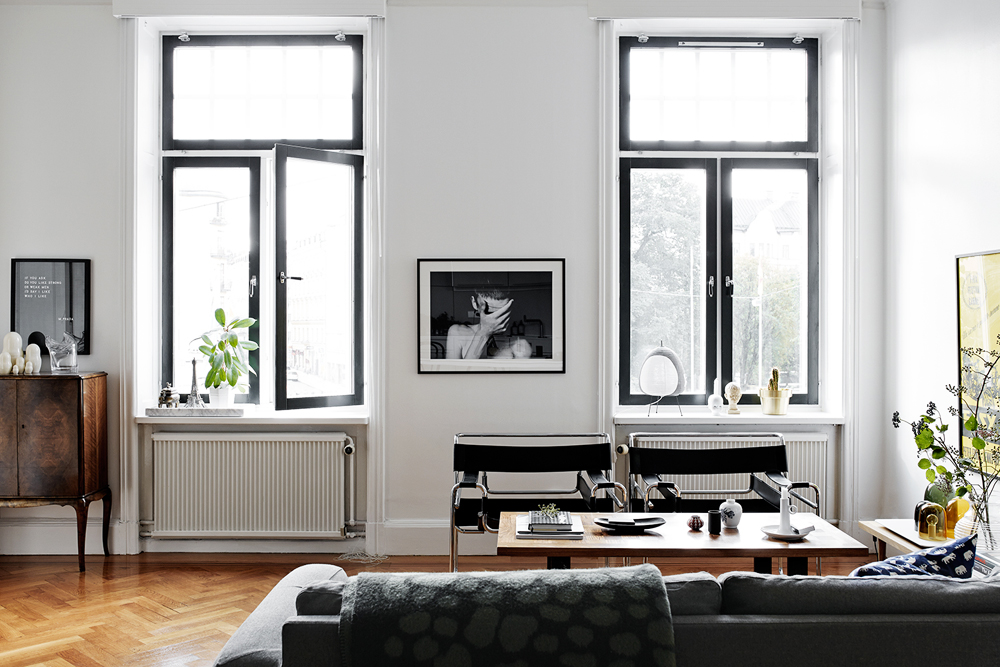 Oracle, Fox, Sunday, Sanctuary, Boy, Meets, Girl, Scandinavian, Interior, Lounge, Room, Leather Couch, Artwork, Black Windows