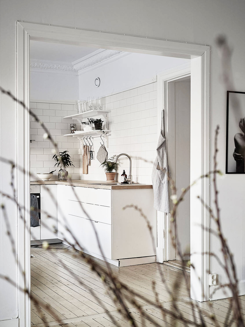 Oracle, Fox, Sunday, Sanctuary, Detail, Oriented, Black, and, white, Scandinavian, Interior, kitchen, black and white