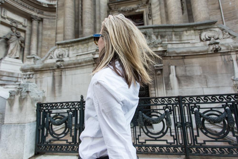 Celine ankle boots, Celine, Celine boots, citizens of humanity, white shirt, louis vuitton bag, amanda shadforth, paris street style, oracle fox