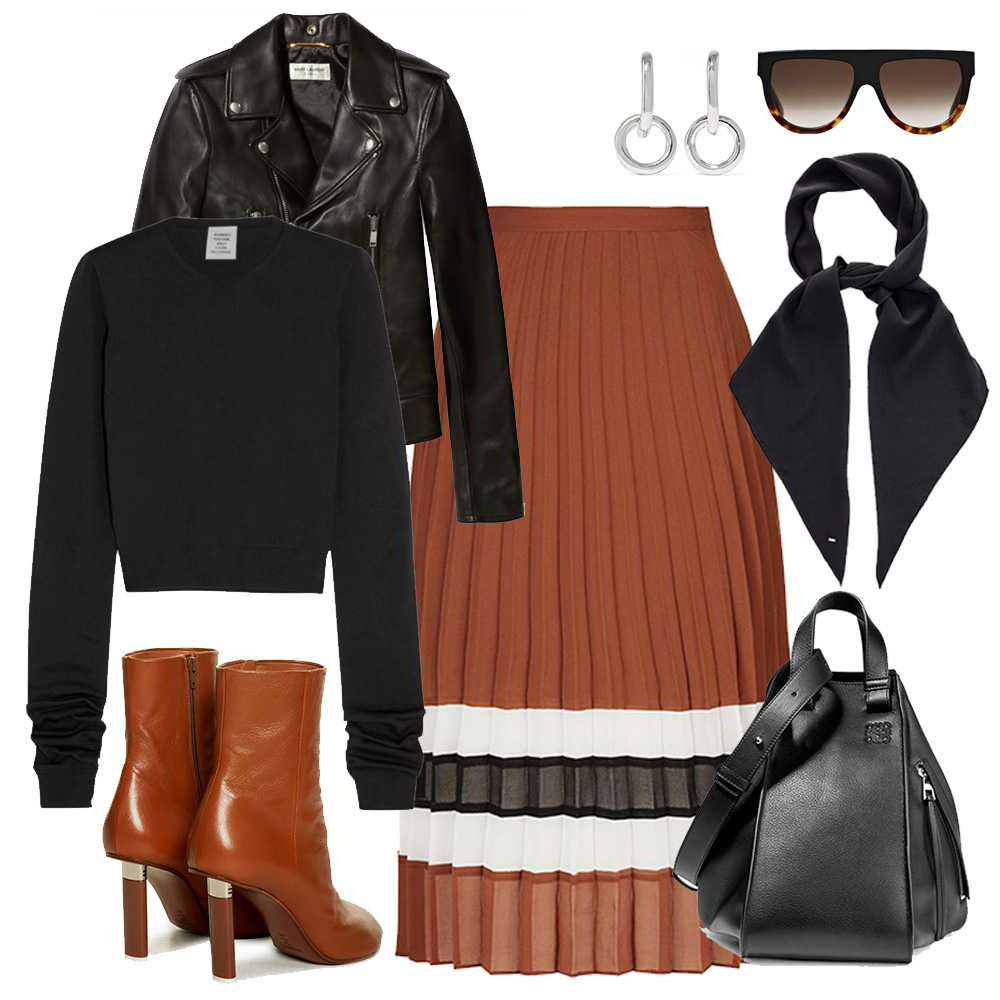 Pleated-skirt-outfit-collage-saint-laurnet-vetements-boots-celine-sunglasses-oracle-fox