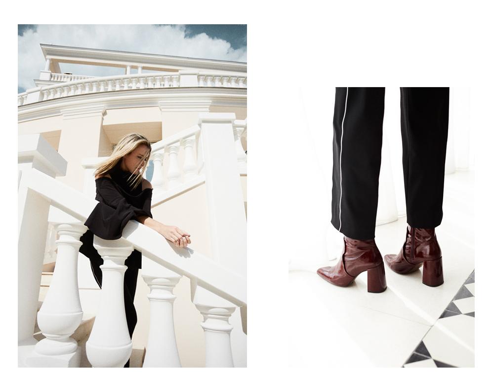 Camilla Marc, Camilla Marc Top, Black pants, Red Boots, Maroon Boots, Burgundy Boots, Oxblood boots, Cap Estel, France, Travel, Amanda Shadforth, Oracle Fox