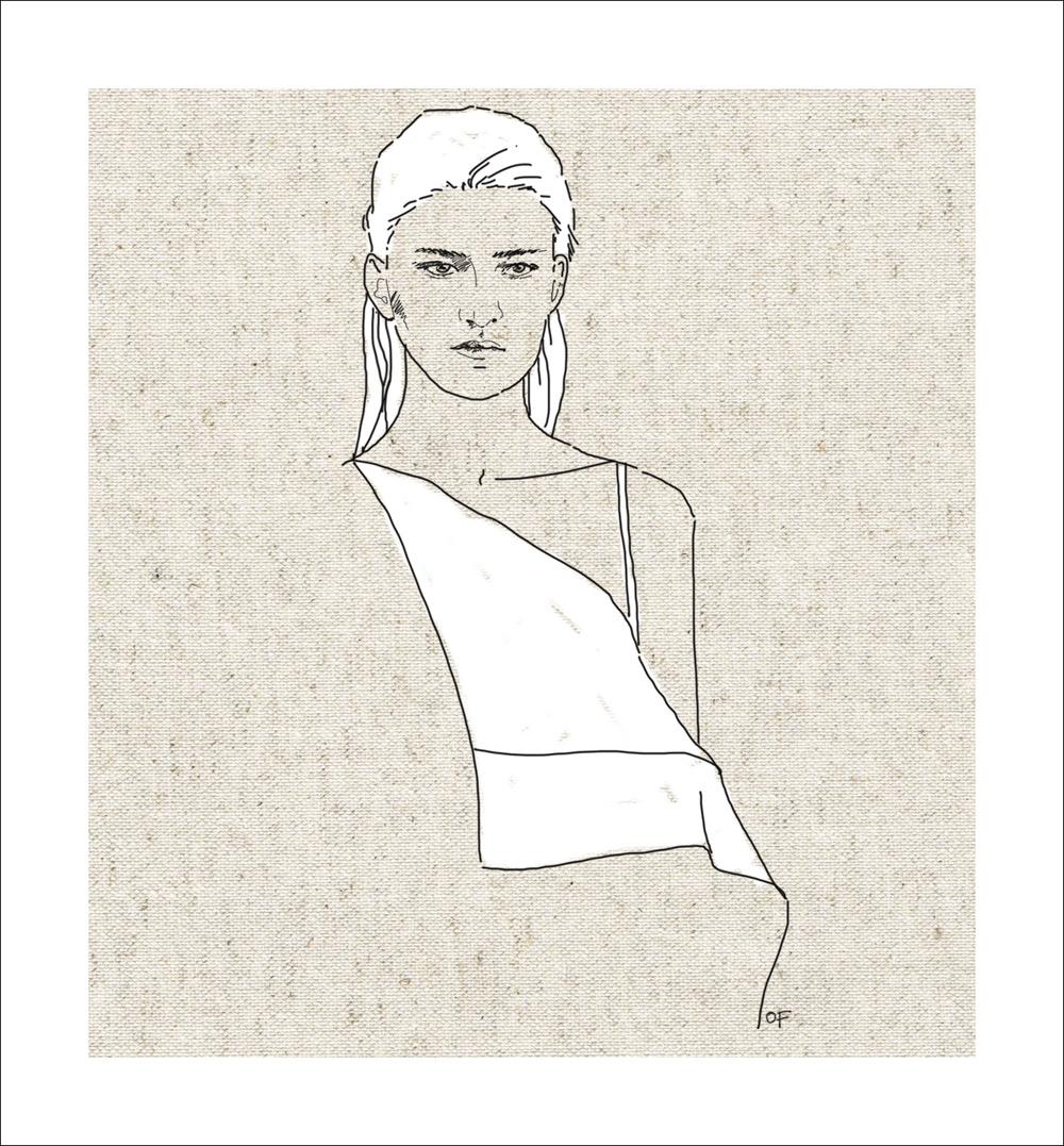 Dion Lee, Dion Lee Resort 2017, Dion Lee Illustration, Illustration, Fashion Illustration, Fashion Drawing, Amanda Shadforth, Oracle Fox