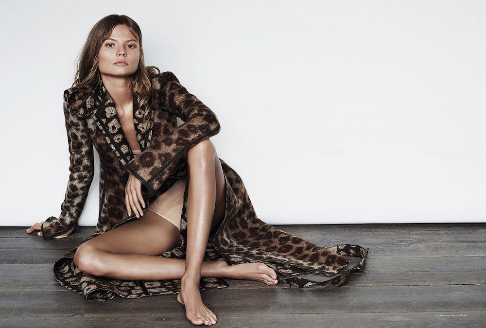 Magdalena Frackowiak, russh magazine, editorial, leopard, trend, oracle fox