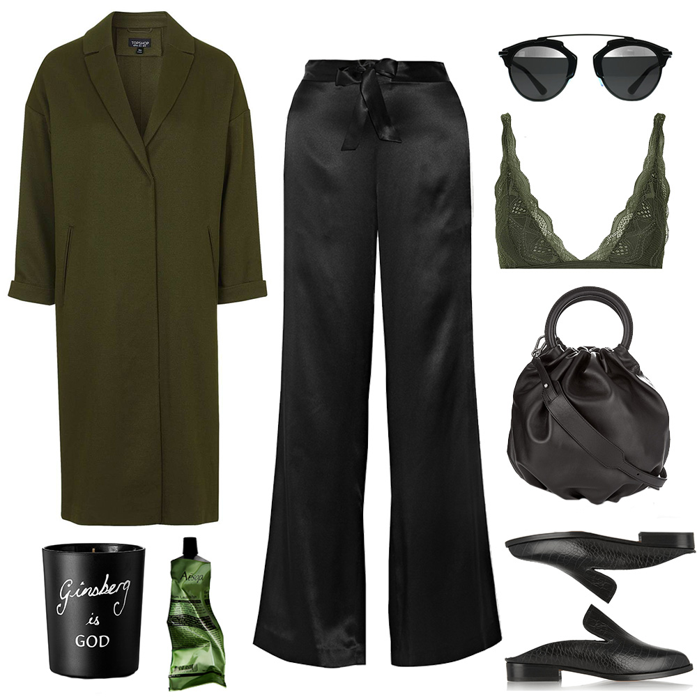 Outfit-collage-oversized-coat-triangle-bra-doir-sunglasses-oracle-fox