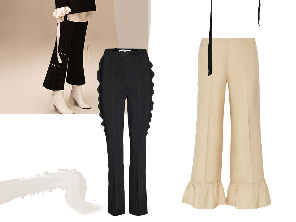 Outfit-collage-ruffles-ellery-fendi-gucci-black-trousers-oracle-fox