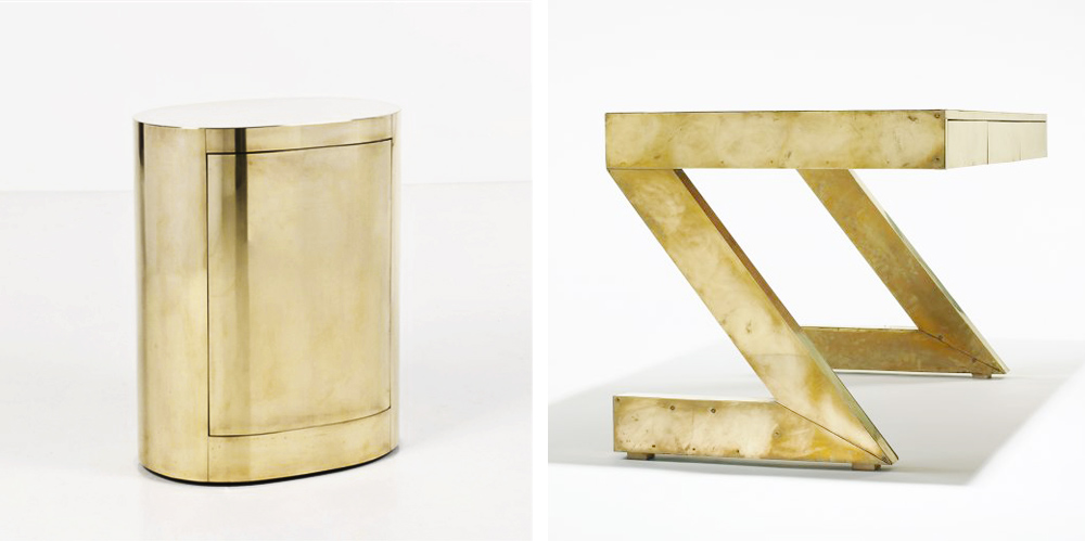 Gabriela Crespi, Interior Design, Interior Designer, Industrial Designer, Artist, Gold Furniture, Brass Furniture, Bronze Furniture, Brass Coffee Table, Oracle Fox