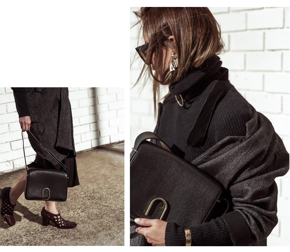 Phillip Lim Bag, Phillip Lim Alix Bag, Celine Shoes, Celine Sunglasses, Grey Coat, outfit, amanda shadforth