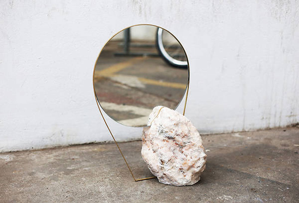 Katharina Eisenkoeck, Mirror, quartz mirror, onyx, tension mirror, artist, sculptor, sculpture, mirror sculpture, amanda shadforth, oracle fox