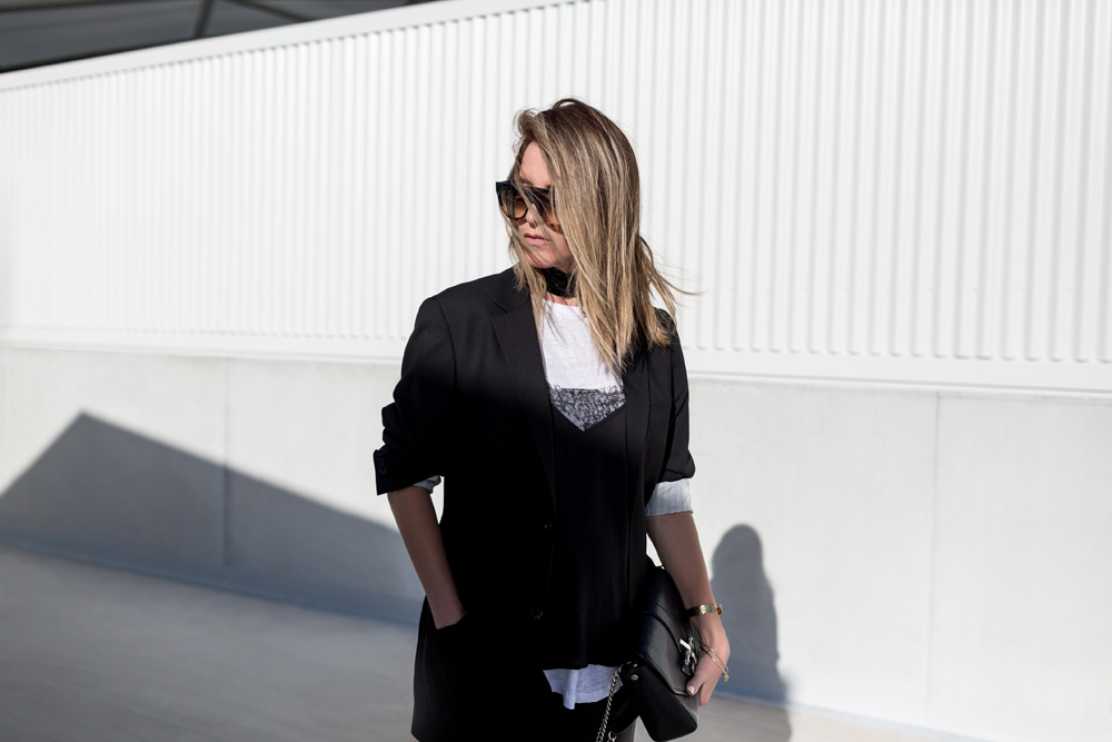 Celine, Celine Boots, Celine Shoes, Black Outfit, Leather Pants, Givenchy Bag, Celine Sunglasses, Outfit, Amanda Shadforth, Oracle Fox