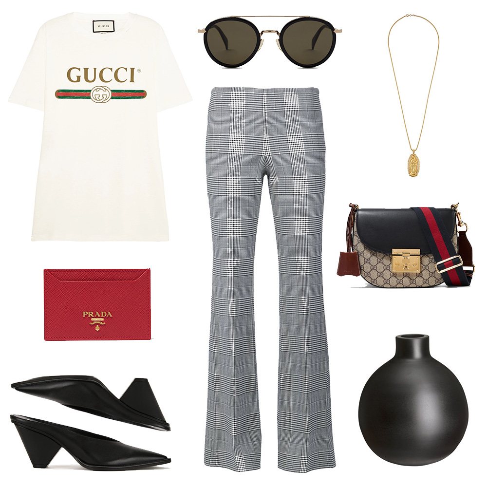 outfit-collage-checked-trousers-gucci-prada-celine-sunglasses-vase-fine-necklace-oracle-fox