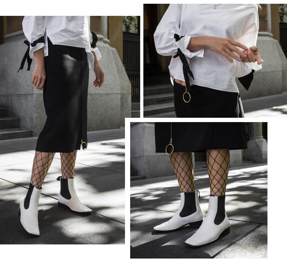 Celine Boots, White Celine Boots, Celine, Boots, White Boots, Monochrome Outfit, amanda shadforth, oracle fox