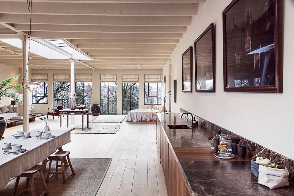 kitchen, enter the loft, loft, interiors, interiors tour, apartment, miss bare, industrial, sunday sanctuary, home, inspiration