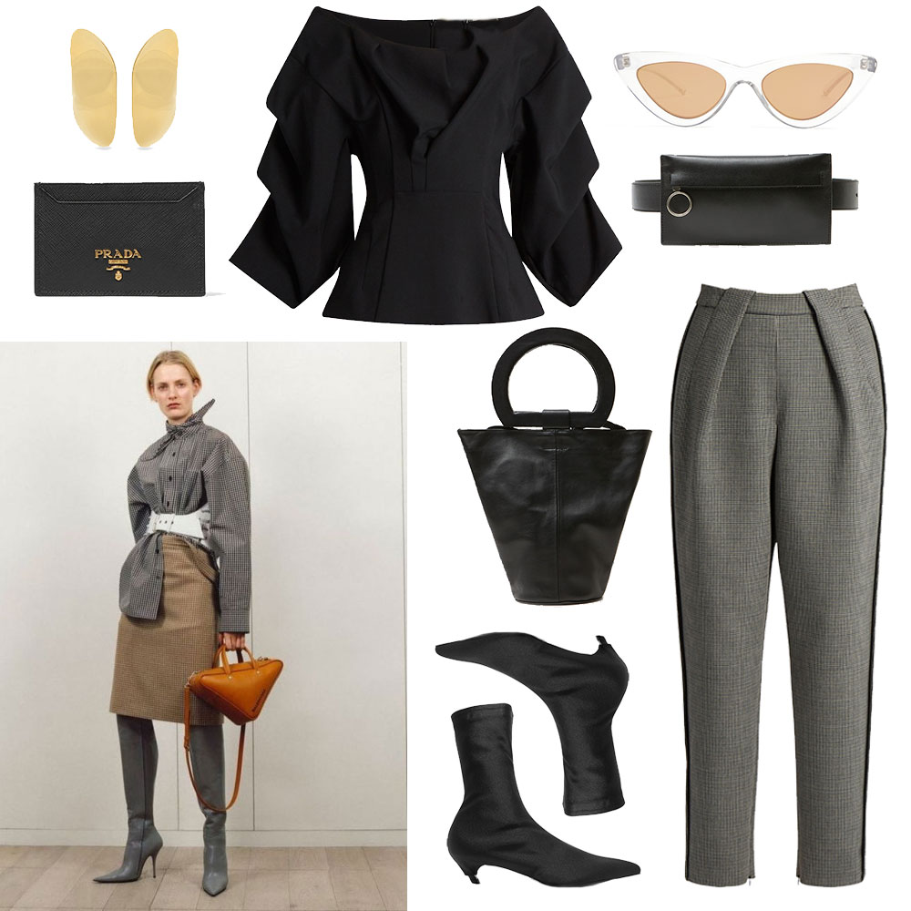 Outfit, Collage, Balenciaga, Le Specs, Prada, Oracle, Fox