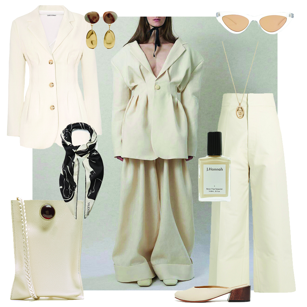 Outfit, All White, Collage, The Row, Le Specs, Oracle, Fox