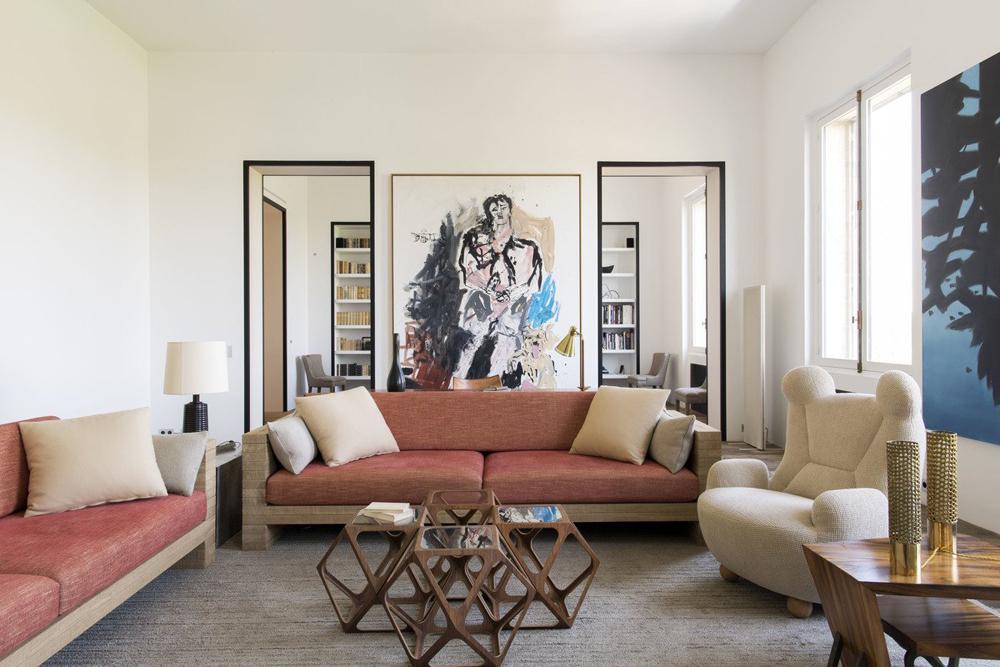 contemporary, interiors, living room, paris, france, pierre yovanovitch, architecture, interiors, sunday sanctuary, oracle fox