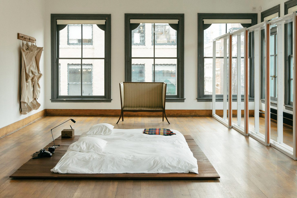 Donald Judd, Judd Foundation, bed, bedroom, interiors, sunday sanctuary, oracle fox