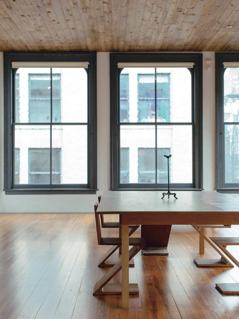 Donald Judd, Judd Foundation, interiors, sunday sanctuary, oracle fox, dining room, dining table