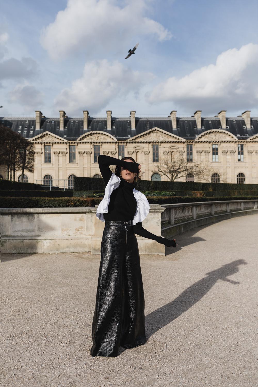 Ellery-Leather-Pants-White-Shirt-Paris-Amanda-Shadforth