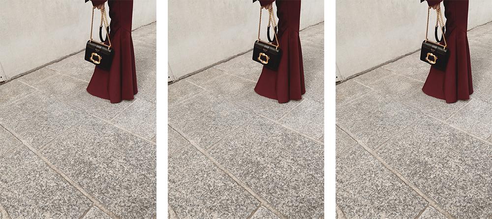Outfit, Post, Personal, Style, Ellery, Maroon, Suit, Prada, Lizard, Bag, Amanda, Shadforth, Oracle, Fox