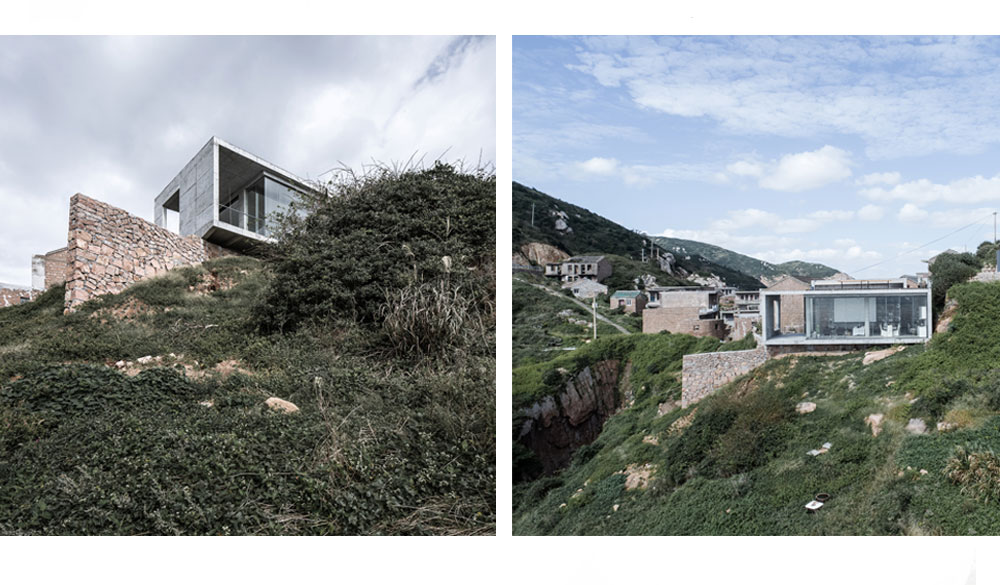 industrial, house, china, hillside, concrete, interior