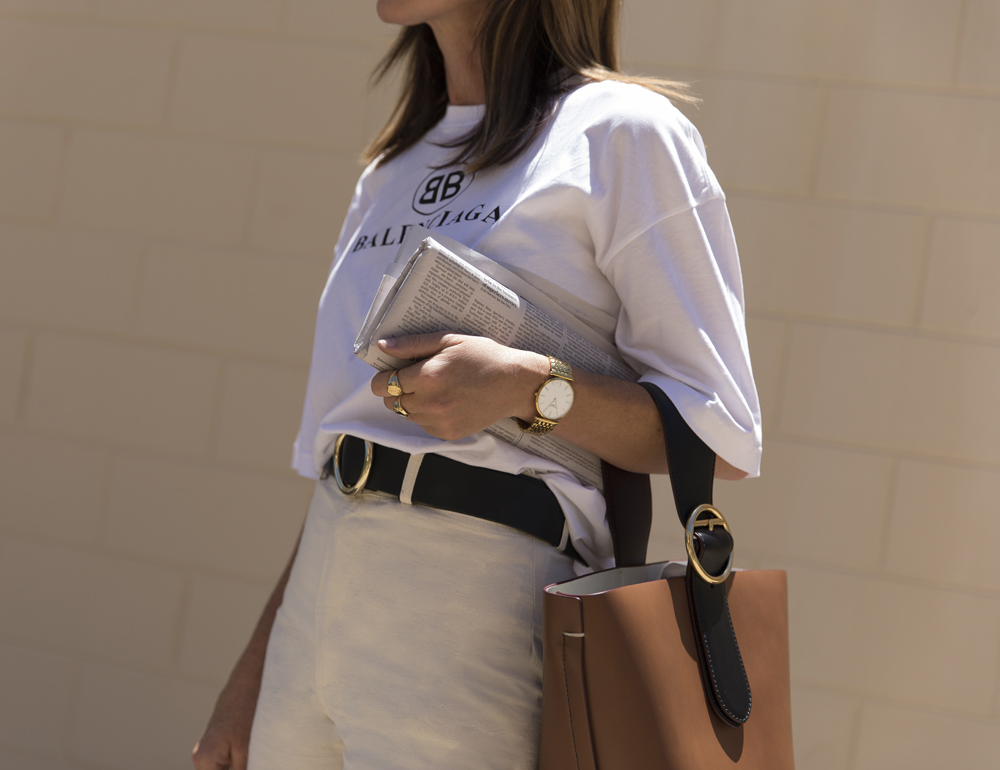 Outfit, Personl outfit, Balenciaga, T-shirt, Joseph, Cropped Pants, Oracle, Fox