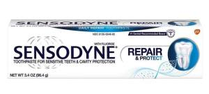 Sensodyne teeth sensitivity toothpaste