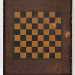 Antique_American_1880s_19th_Century_Four_Color_Polychromatic_Painted_Game_Board_Checkerboard_Original_Untouched_Surface_For_Sale_01