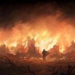 Burning_Village_by_Andreas_Rocha