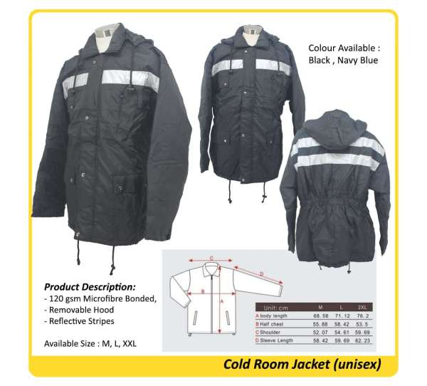 cold room jacket singapore
